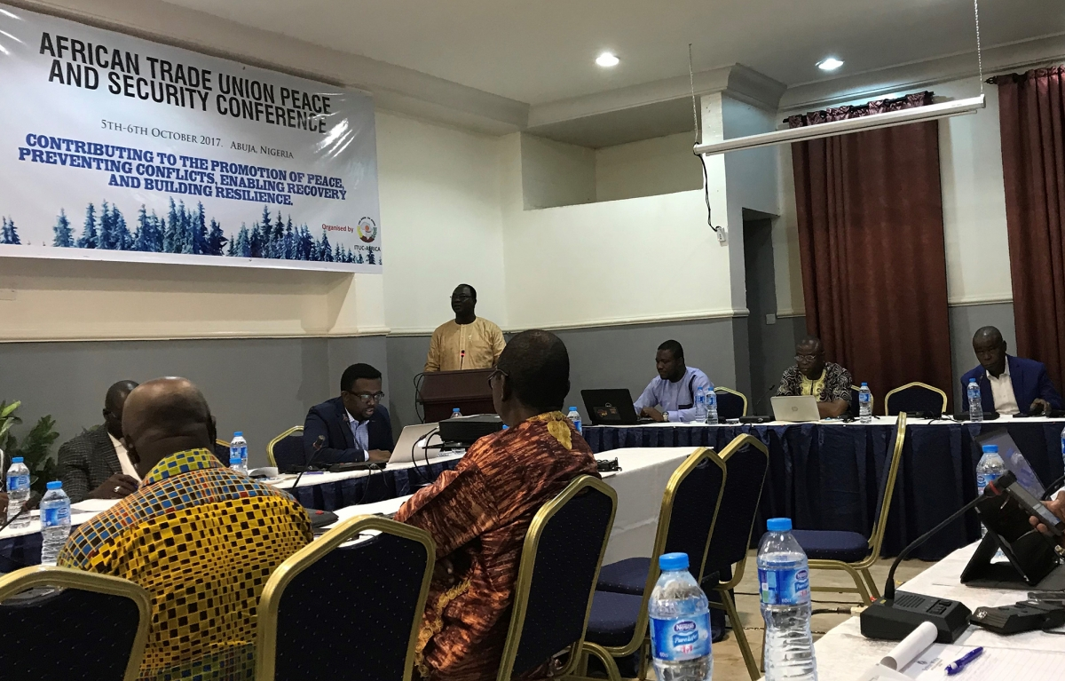 Ayuba Wabba, President of Nigeria Labour Congress keynotes the conference.