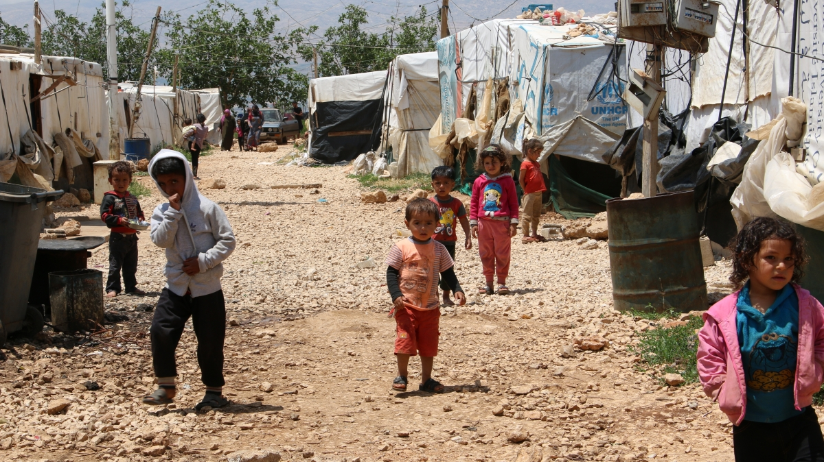 Syrian refugee camp in the Bekaa valley