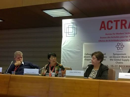 Rosa Pavanelli ACTRAV Global Symposium on Decent Work in the Global Supply Chains