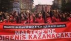 Dismissed Turkish health workers demonstrating
