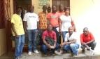 Des employé(e)s des services de santé au Libéria, parmi lesquels George Poe (à gauche) et Martha C. Morris (tout à droite)