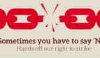 Right to strike logo