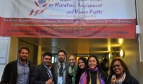 The trade union international delegation (PSI, AFT, AFL-CIO) during the PGA