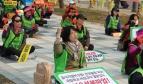 Korean workers demonstration