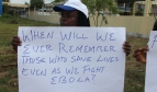 Photo: Liberia health workers protest at ECOWAS