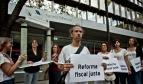 Protesta por la justicia fiscal en España (Foto: Pablo Tosco/Oxfam Intermón