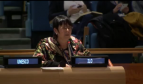 Rosa Pavanelli addressing UN High-level panel discussion