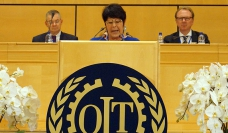 Rosa Pavanelli speaking at ILC 2015