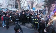 Firefighter strike Georgia