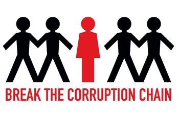 Break the corruption chain logo