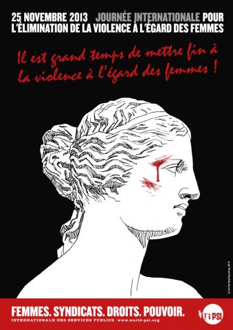 Poster de la PSI pour la journée internationale VAW
