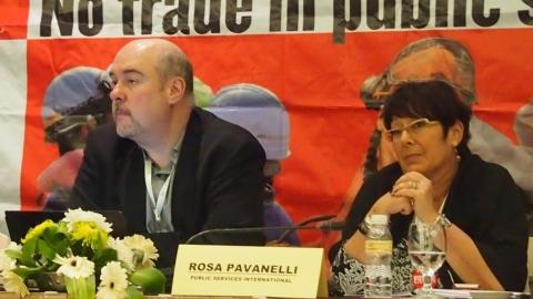 David Robinson IE - Rosa Pavanelli PSI
