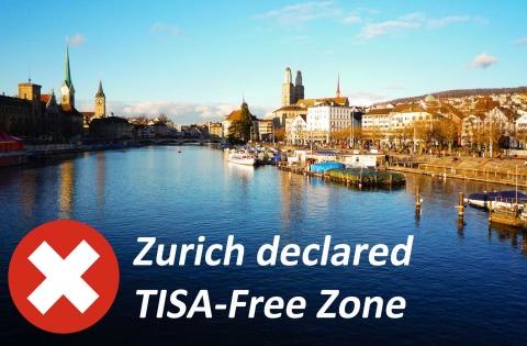Zurich declared TISA-Free zone