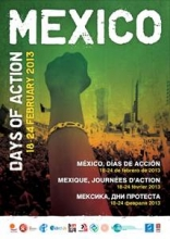 Poster for days of action in Mexico