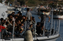 Refugees on a boad
