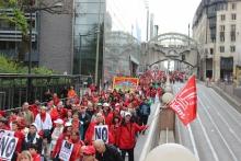 EPSU demo in Brussels