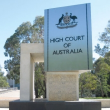 Sign for the High Court of Australia