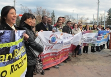 PSI activists and civil society organizations rally for Migrants' Rights and Qua