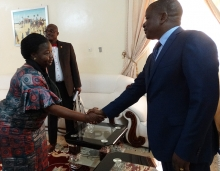PSI Subregional Secretary Charlotte Kalanbani met the Prime Minister of Chad in February 2017