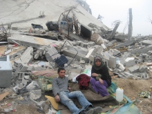 A destroyed home in Gaza, Palestine