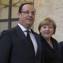 French President François Hollande and German Chancellor Angela Merkel
