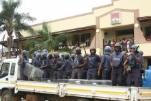 Swaziland riot police - from Jinty Jackson's Swazi Shado blogsite