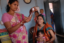 Health worker in India