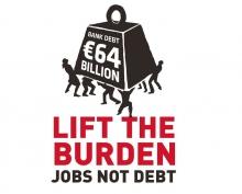 Photo lift the burden - Jobs not debt