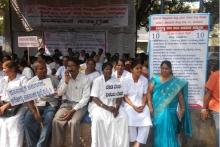 Protesters in Karnataka