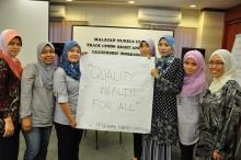 Taller de enfermeras malasias: ¡Salud de calidad para todos! Foto: MNU