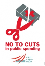 Logo No to cuts in public spending