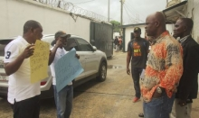 Protestors in Liberia present their demands