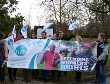 PSI outside the Mission of the Russian Federation in Geneva