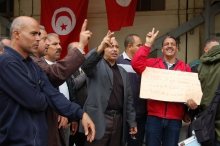 Tunisia: Members of the PSI affiliate Fédération Générale de l'Agriculture (a union belonging to the labour central UGTT) exposed corruption by former leaders of the Ben Ali regime.