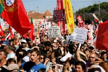 demonstration against austerity in Portugal