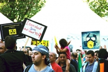 Demonstration against use of chemical weapons in Syria