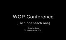 WOP Conference - Each one teach one