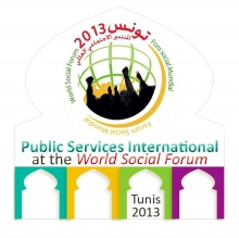 Logo of the World Social Forum in Tunis