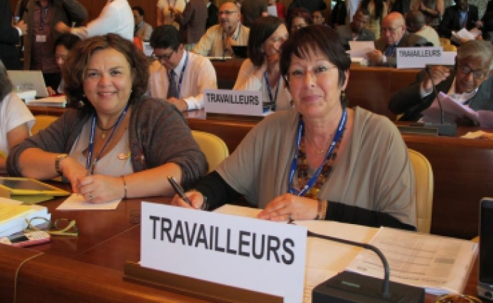 Rosa Pavanelli & Juneia Batista at the ILC