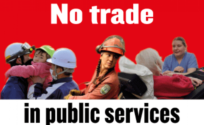 The dangers of liberalising services image flyer