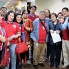 The trade union delegation