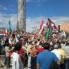 Los sindicalistas de SITRANDE celebrando la decisión tomada por diputados