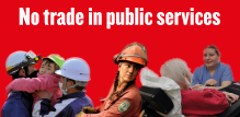 No trade in public services - button