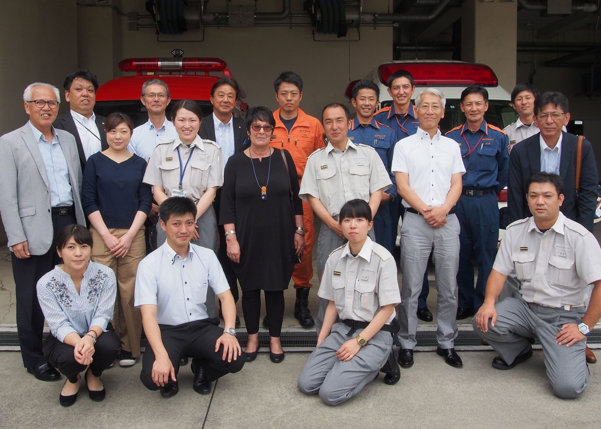 Rosa's visit to fire department in Japan