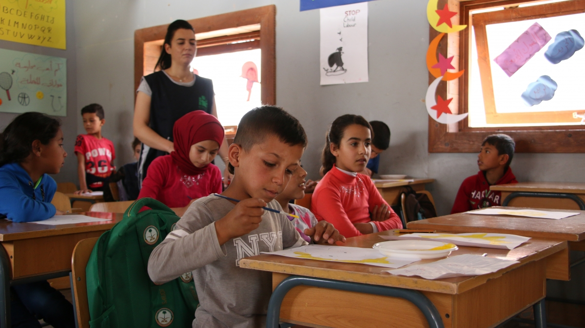 School for Syrian refugees in the Bekaa valley