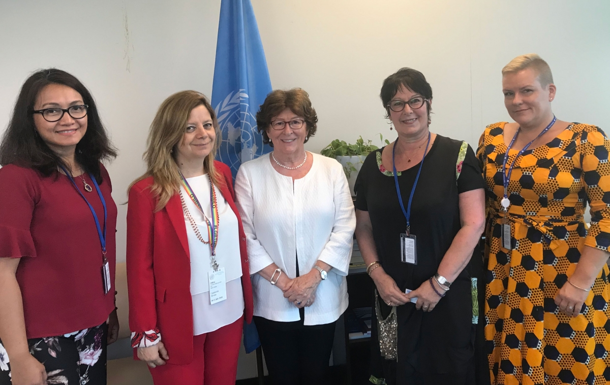 PSI General Secretary meets with Louise Arbour, the UN Secretary General's Special Representative on International Migration
