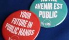 Botones Tu Futuro en Manos Públicas