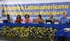 Líderes de varios sindicatos de trabajadores municipales de once países latinoamericanos