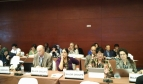 Trade Unions and Workers group and PSI delegation led by General Secretary, Rosa Pavanelli at the PrepCom3 of Habitat III on 26 September 2015 in Surabaya, Indonesia