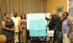 Photo: PSI delegation meets with Dr Toni Lewis (far left) and SEIU members. Photo:SEIU1199